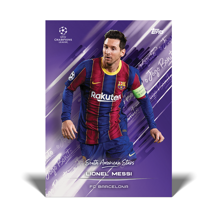 TOPPS DESIGNED BY ROBERTO FIRMINO CARTE SOUTH AMERICAN STARS MESSI